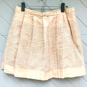 J. Crew Pleated Piped Skirt